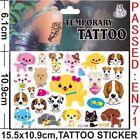 Cartoon Kids Temporary Tattoo Sticker Sheet Party Favours Lolly Loot Bag Tattoo