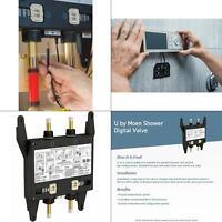 u by moen 2-outlet digital thermostatic shower valve