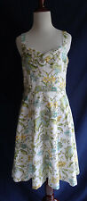 Ann Taylor Loft 4 White Fit & Flare A-Line Dress Retro Rockabilly Pin-Up Style