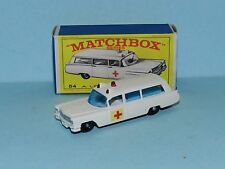 MATCHBOX No 54 S & S Cadillac Ambulance Made In England Factory mint New in Box