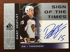 2002-03 SP Authentic DANY HEATLEY Sign Of The Times Auto Atlanta Autograph