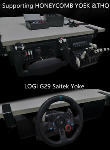 Honeycomb alpha Yoke throttle quadrant g27 g29 saitek Gaming simulator Mount