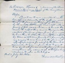 Letters About/ Bill For Treatment of the Poor, Berlin NY,  1844