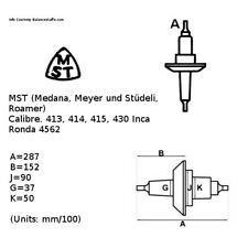 MST  Cal 413, 414, 415, 430 Inca BALANCE STAFF 10.5''' Ronda 4562 (TC649)