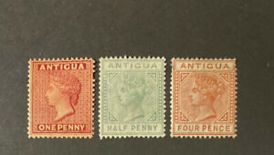 ANTIGUA  Very  Nice  Mint  Hinged  Values  VICTORIA  AG