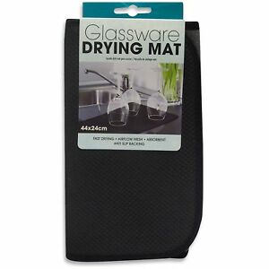44cm x 24cm Drying Glassware Fast Dish Drying Mat Absorbent Anti Slip Airer