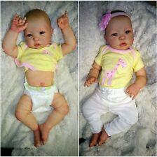Reborn Newborn Baby Girl Shyann Full Vinyl, Anatomically Correct ~Custom Order~