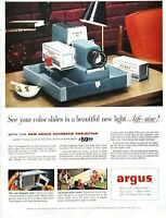 1956 Argus Projector Vintage Print Ad Color Slides Beautiful New Light Camera