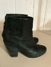 Women's Rag & Bone Newbury Leather Ankle Brown Boots Size 38