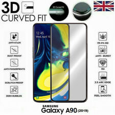 For Samsung Galaxy A90 (2019) 3D Tempered Glass LCD Screen Protector Black