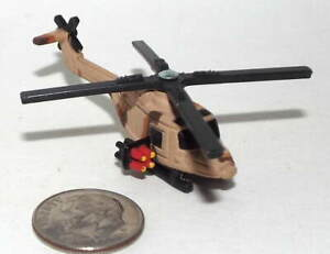Small Mini Hot Wheels Plastic Westland Lynx Helicopter in Desert Camouflage