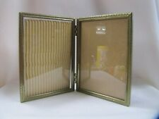 Vintage Double Picture Frame 5 x 7 Metal Decorative Stamped Border