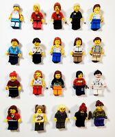 Lego Girls Woman Female w/ Accessory Random Town City Minifigures Lot of 5