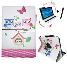 10.1 Pollici Tablet Borsa Acer Iconia Tab a501 Custodia Guscio - 360 ° BABY Motivo Gufi