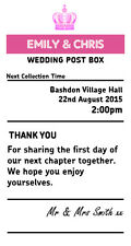 PINK Wedding Sign  4' x 7.5' sign royal mail insert post box Wedding Card Box