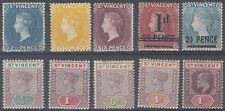 St. Vincent Scott 45,49,55,56a,62-3,65-6,83 Mint hinged (nice group)- CV $105.00