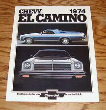 1974 Chevrolet El Camino Foldout Sales Brochure 74 Chevy