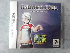 ANOTHER CODE TWO MEMORIES NINTENDO NDS DS DSi 2DS 3DS PAL ITA ITALIANO COMPLETO