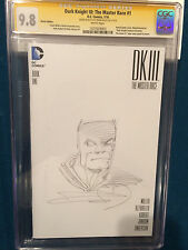 FRANK MILLER ORIGINAL Sketch Art CGC 9.8 BATMAN Signed DK III Master Race #1 Comic Art