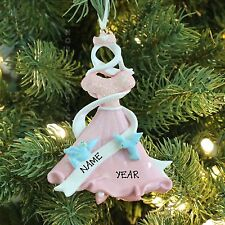 Princess Dress/Pink Personalized Christmas Tree Ornament Holiday Gift 2016