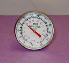 """KOCH 8"""" POINTED STEM THERMOMETER FAHRENHEIT & CELSIUS RANGE 0 F TO 220 F #64108"""