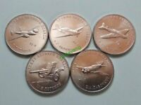 Russia  25 rubles 2020 Set 5 coins Weapon of Victory  3d issue