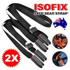 AU 2x Adjustable Car Baby Kids Safe Seat Strap Isofix Link Belt Anchor
