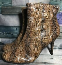 "Diba ""Haig"" Women's Faux Snakeskin Side Zip Ankle Heeled Boots Size 11M US"