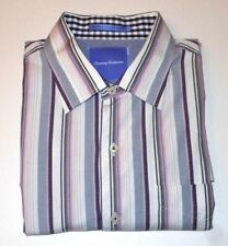 TOMMY BAHAMA COLORFUL STRIPED LONG SLEEVES FINE COTTON DRESS SHIRT. TB8097A1