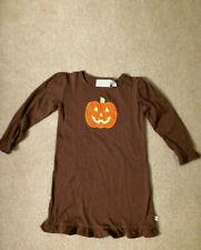 Lolly Wolly Doodle Girl's  Halloween Pumokin Dress size 6-7 EUC