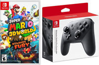 Super Mario 3D World + Bowsers Fury and Wireless Pro Controller Nintendo Switch