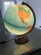 Made In Denmark 40cm Total Height Blue World Atmospere Globe Lights Up