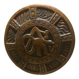 "Antique Domed Mallory Wheeler ""Arabic"" Knob K-21400 Cast Bronze C:1890 T-40"