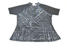Aqua Zumba Speedo Women's Medium Rash Guard Short Sleeve Quarter Zip Top Black