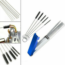 Carb Carburetor Jet Cleaning Tool 5 Brushes+13 Needles For Motorcycle Atv Parts