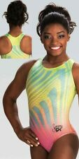 NWT E3732 Color My World Simone Biles GK ™ gymnastics leotard Free Scrunchie AM