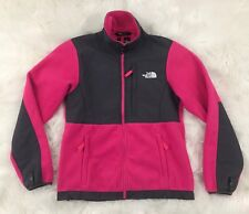 The North Face Women Pink Gray Denali Full Zip Fleece Jacket Coat Size Medium M