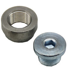 Oxygen Sensor O2 Weld on Stepped Nut & Cap Bung Kit M18*1.5 Thread 1 Set
