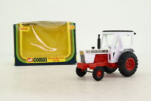 Corgi Toys 55; David Brown 1412 Tractor; White, Red Chassis; Excellent Boxed