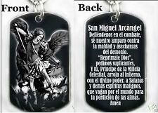 Oración a San Miguel Arcángel - Dog tag Necklace or Keychain + FREE ENGRAVING