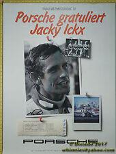 1982 Jacky Ickx Fahrer-Weltmeisterschaft Porsche Genuine Factory Poster Original