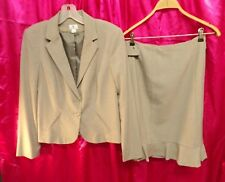 WORTHINGTON Skirt Set 2 Piece Suit Blazer Skirt Lined Career Outfit Womens sz 8