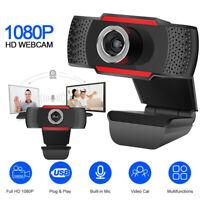 USB Full HD 1080P PC Webcam Camera Digital Web Cam with Mic For Laptop Desktop