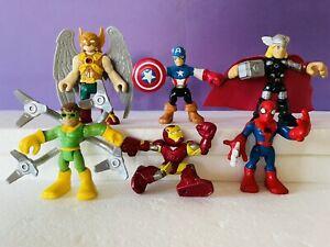 Imaginext Action Figure Lot Superhero Marvel Avengers Playskool Spiderman Set