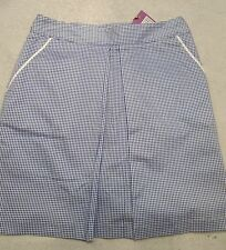 Peter Millar Stretch Cotton Blend Royal Blue Golf Skort Skirt NWT size 4 $99.50