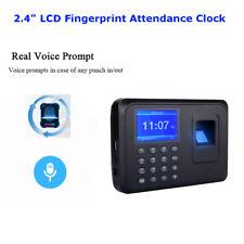 Time Recorder Clocking Attendance Clock Machine Recoder Fingerprint + Password
