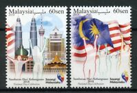 Malaysia 2018 MNH National Day Celebration 2v Set Flags Architecture Stamps