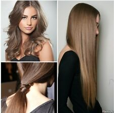 Glueless Lace Front Wigs Light Brown #8 European Virgin Straight Human Hair Wig