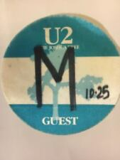 U2 The Joshua Tree World Concert Tour Backstage Stage Pass Vintage Collectible