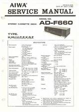 AIWA AD-F660 AD F 660 - CASSETTE DECK - SERVICE MANUAL IN COLOR VERSION -